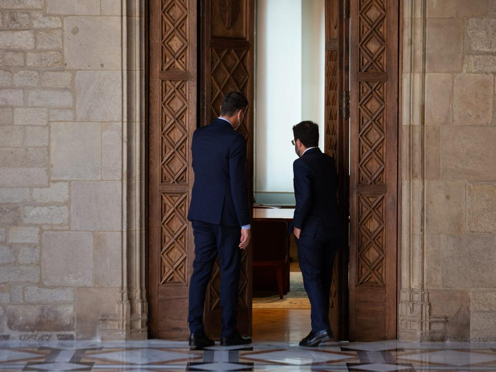 Reunión entre Pedro Sánchez y Pere Aragonès