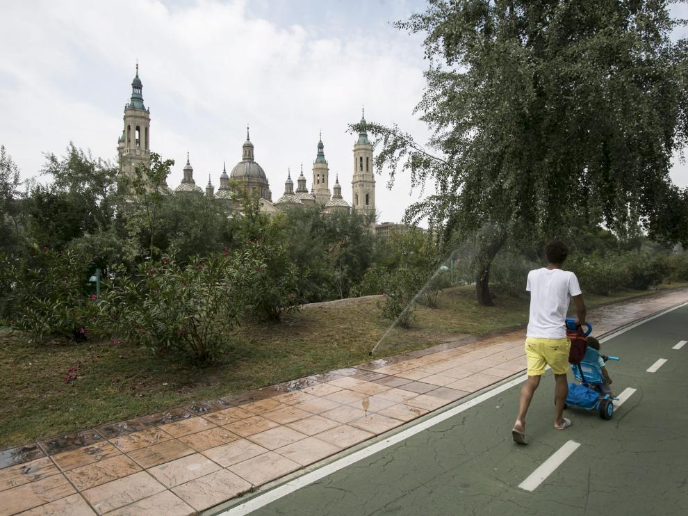 Una vista del Paseo de la Ribera, donde se produjo el accidente.