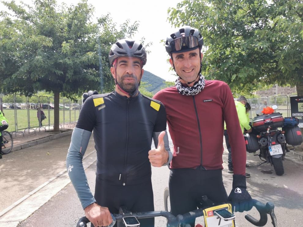 Darío Gadeo y Aimar Zubeldia, primero y segundo de la Quebrantahuesos.
