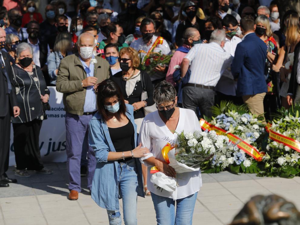 Homenaje a las víctimas del terrorismo en Zaragoza.