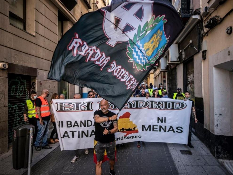 Manifestación de neonazis en Madrid.