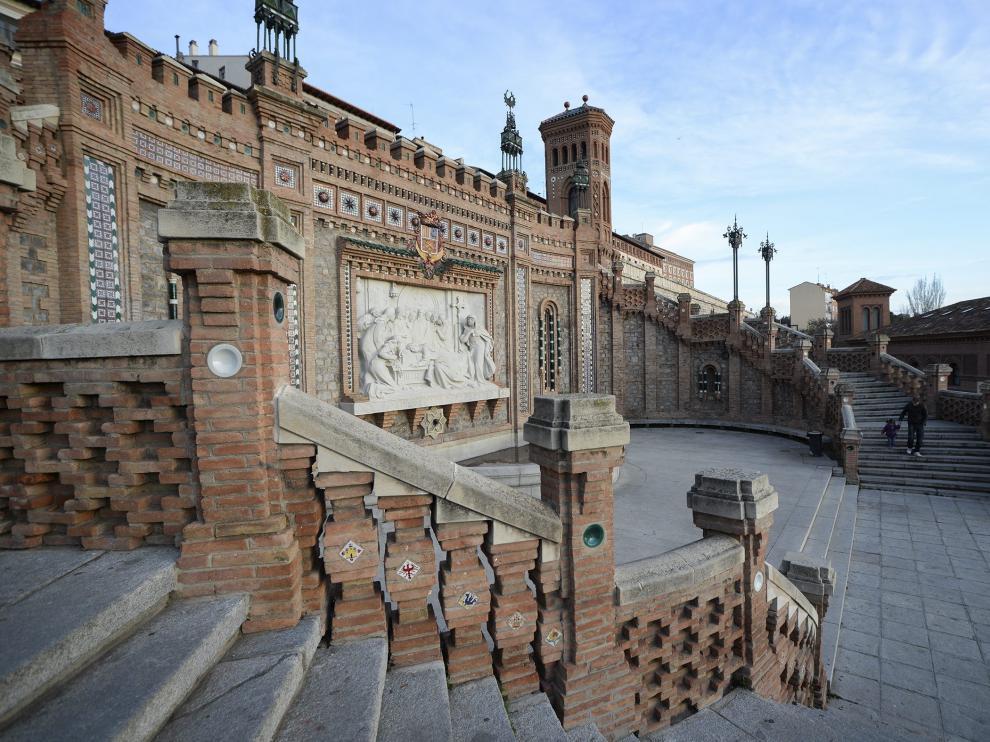 La Escalinata neomudéjar de Teruel es uno de los principales accesos a la ciudad.