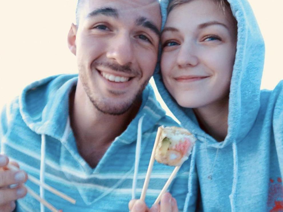 Gabrielle 'Gabby' Petito junto a su novio, Brian Laundrie