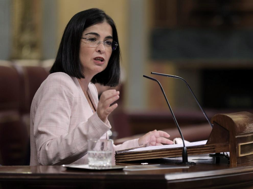 Carolina Darias este miércoles en el Congreso de los Diputados