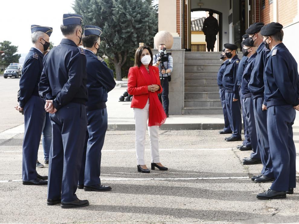 Visita de Margarita Robles, ministra de Defensa, a la Base Aérea de Zaragoza