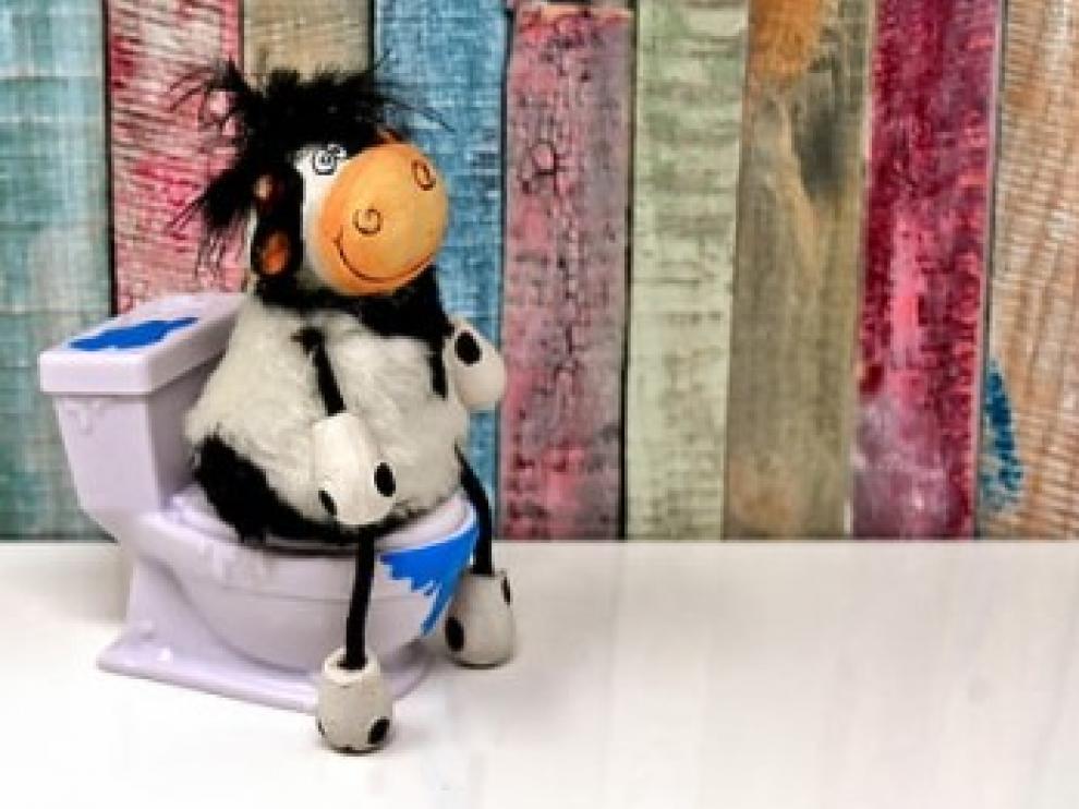 Vaca en retrete