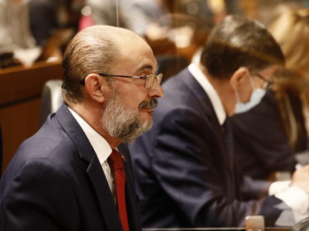 El presidente de Aragón, Javier Lambán,