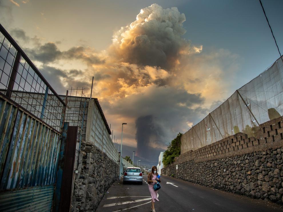 Gran Columna de humo del volcán