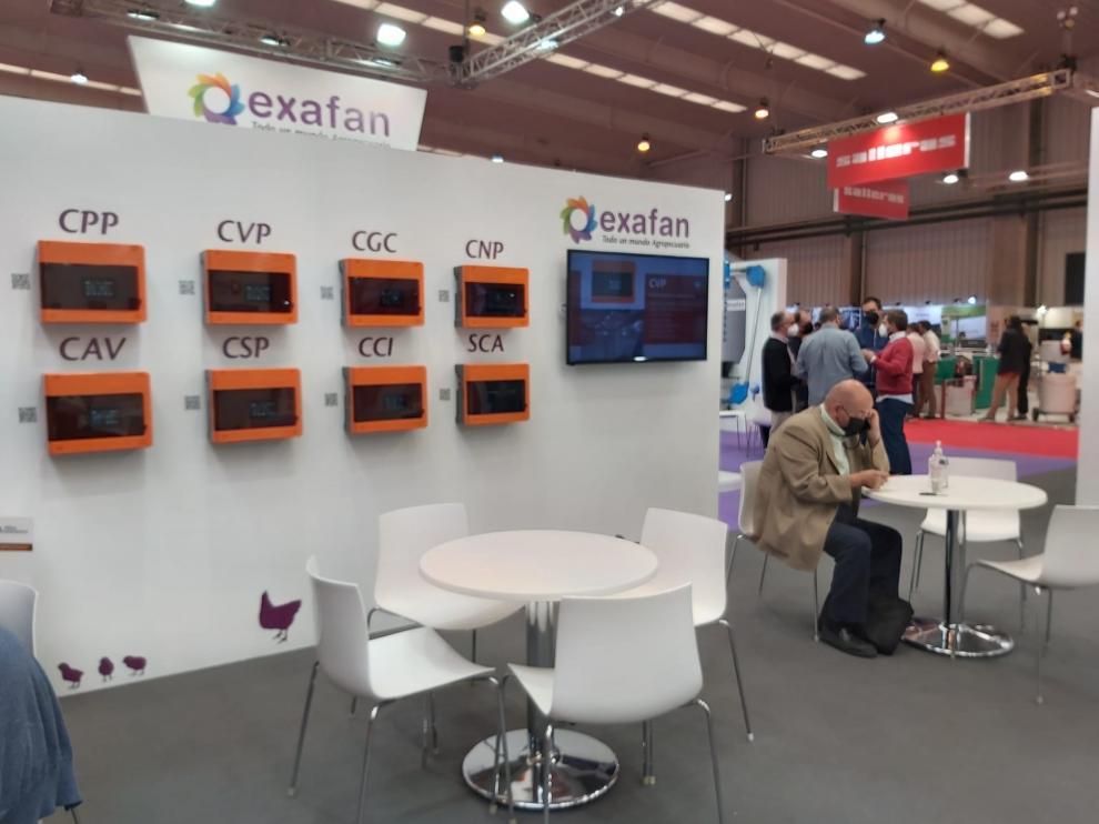 Innovación tecnológica expuesta por la empresa aragonesa Exafan durante la reciente celebración de Figan en la Feria de Zaragoza.