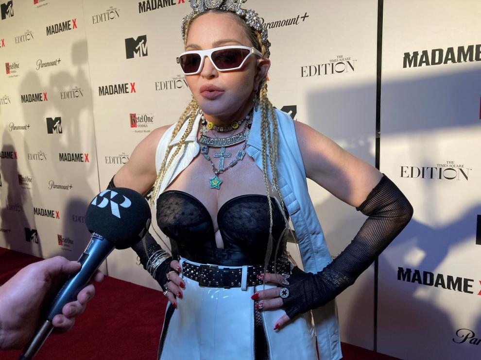 Madonna, este viernes, en la presentación del documental.