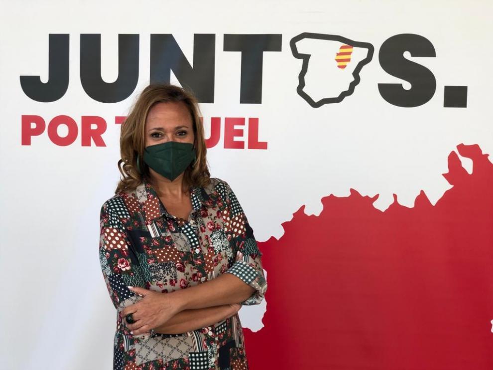 Mayte Pérez al anunciar su candidatura a la reelección como secretaria general provincial del PSOE.