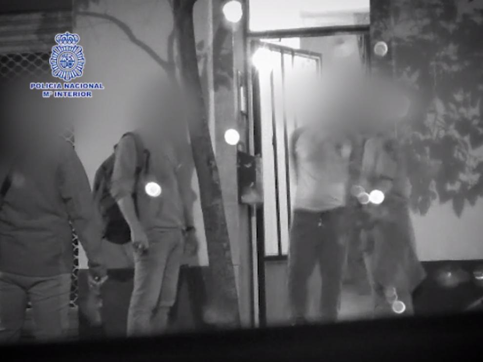 Momento de la detención en Zaragoza
