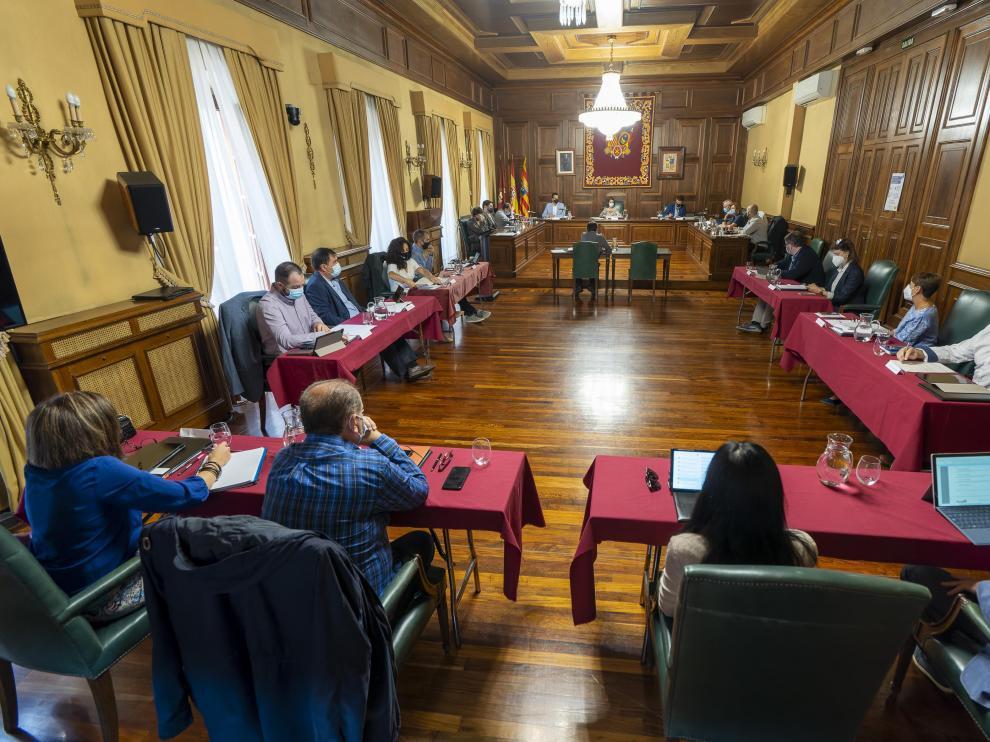 pleno del ayuntamiento de Teruel. Foto Antonio Garcia/bykofoto. 24/09/21[[[FOTOGRAFOS]]]