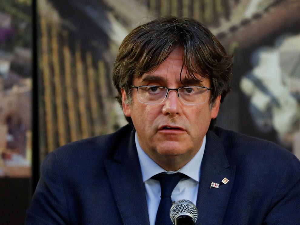 Carles Puigdemont en su comparecencia de este sábado