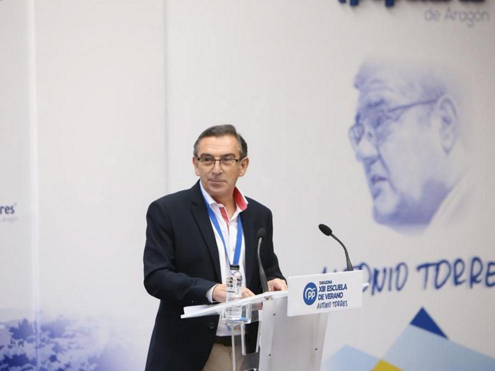 El presidente del PP en Aragón, Luis María Beamonte