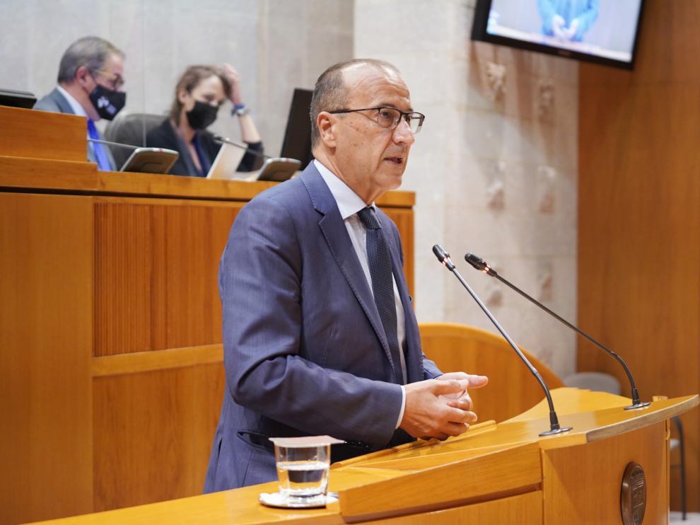 Felipe Faci este viernes en la sesión parlamentaria de las Cortes de Aragón