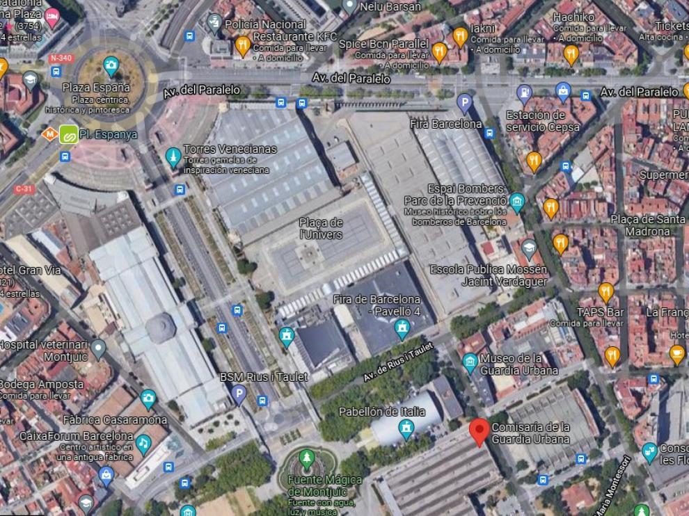 La comisaría donde ocurrieron los hechos en Barcelona
