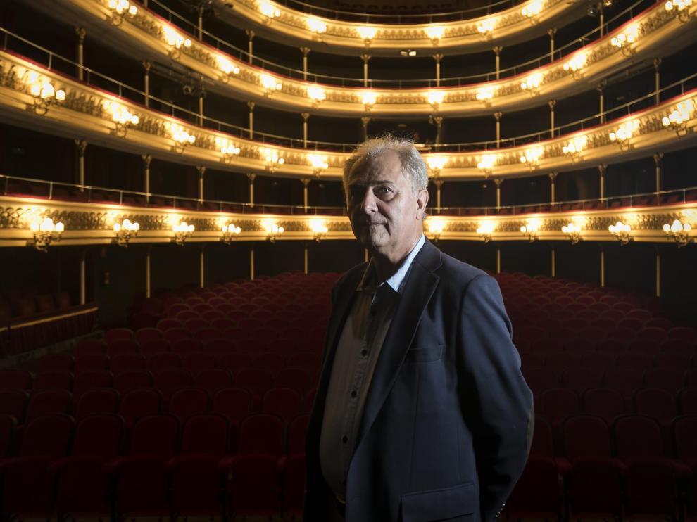 Miguel Fleta Estapa visitó Zaragoza para ver el montaje 'Pasión y gloria' en el Principal