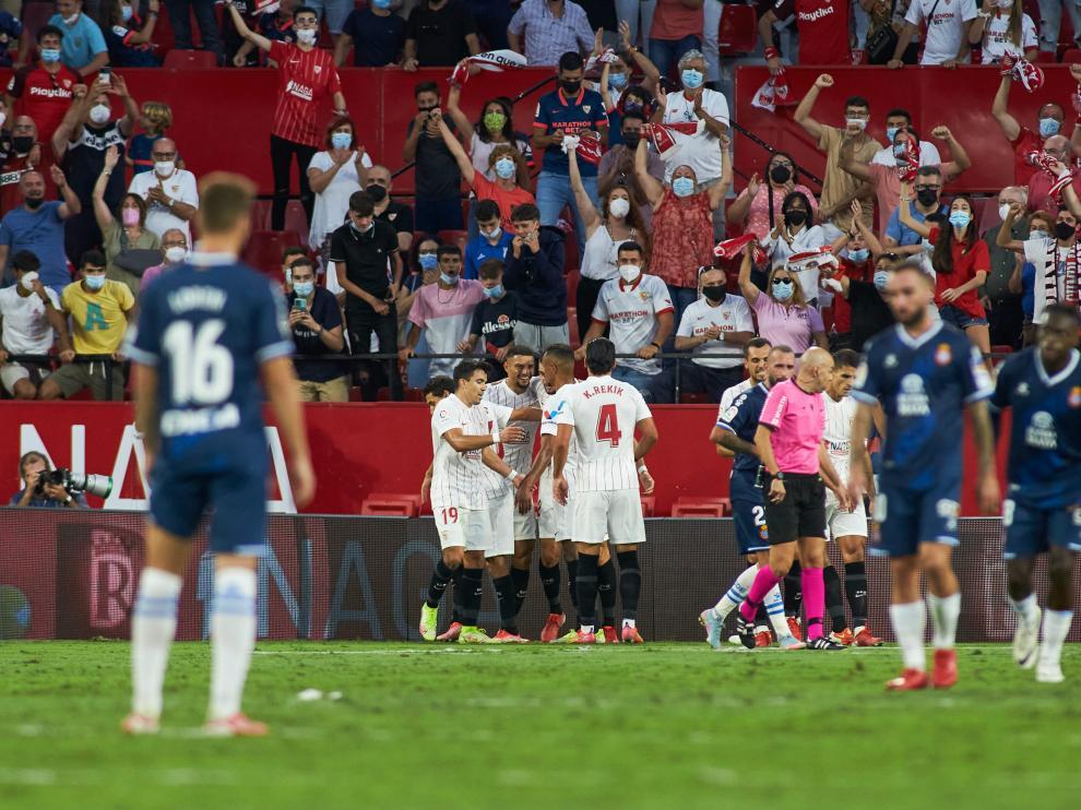 Partido entre el Sevilla y el Espanyol este sábado