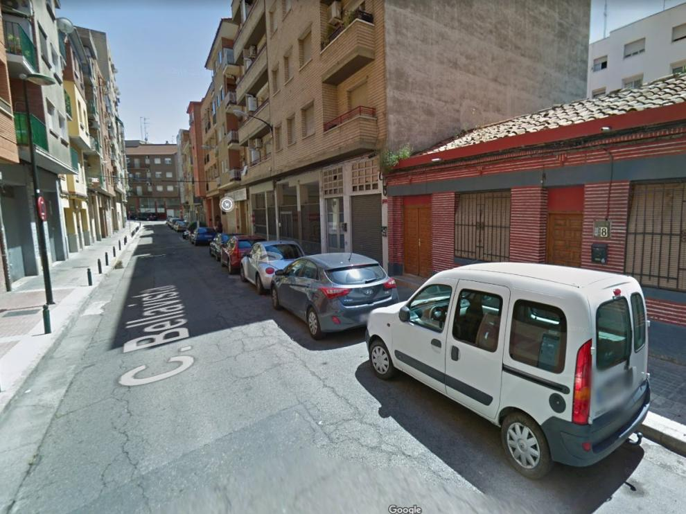 Calle Bellavista, en el distrito San José de Zaragoza.
