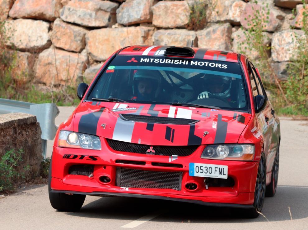 El Mitsubishi con el que Luis Bonillo y Moisés Sánchez ganaron en Nueno.