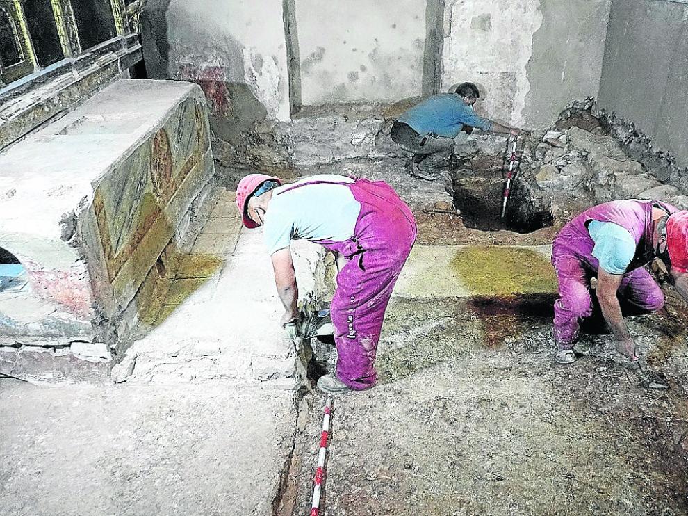 Trabajos de restauración de la capilla de San Andrés de Rueda