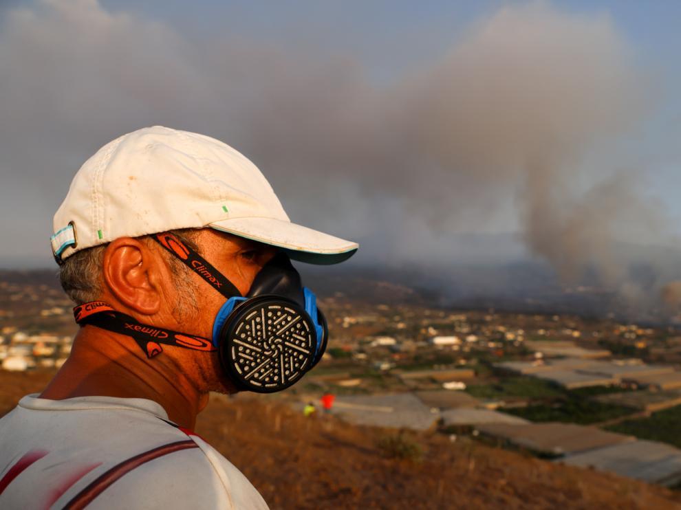 Eruption of a volcano in La Palma