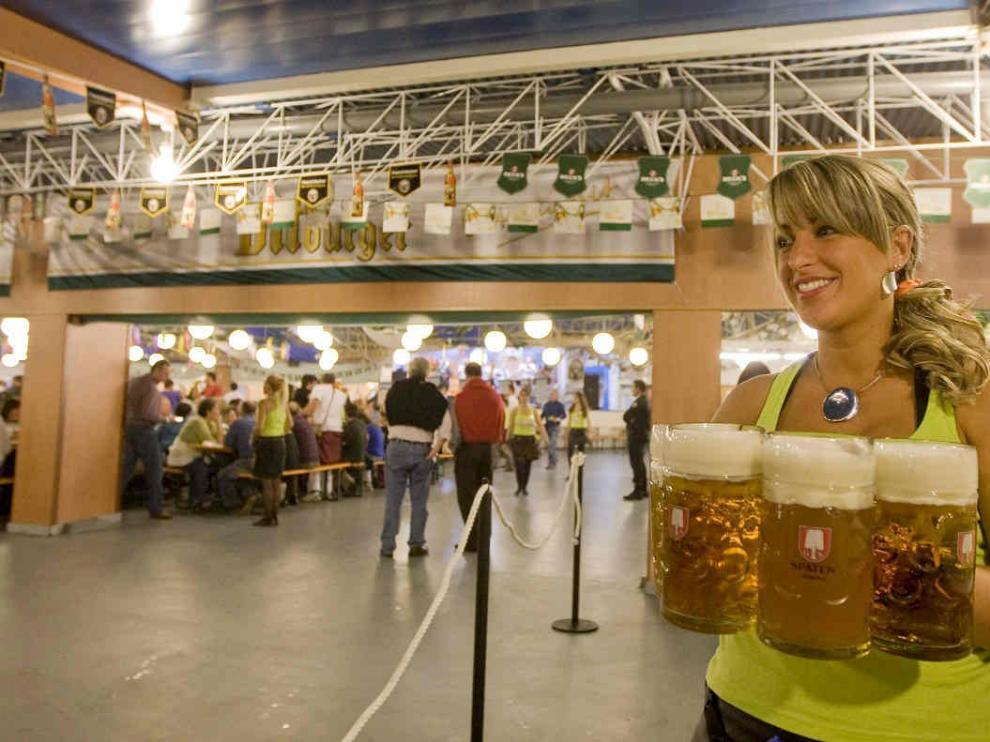 Fiesta de la Cerveza en el Parque de Atracciones de Zaragoza en una foto de archivo