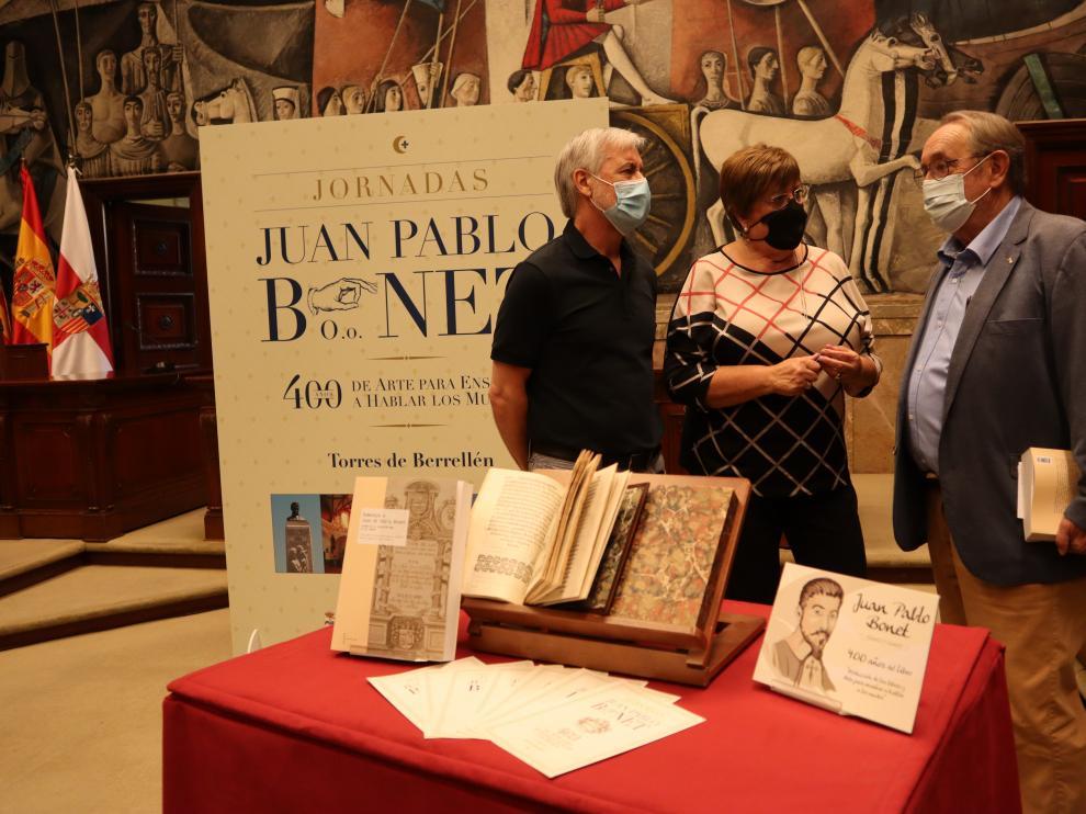 Presentación de los actos en homenaje a Juan Pablo Bonet, este martes, en la DPZ