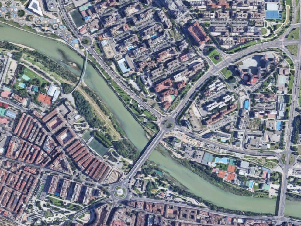 Vista de satélite de la zona afectada por las retenciones