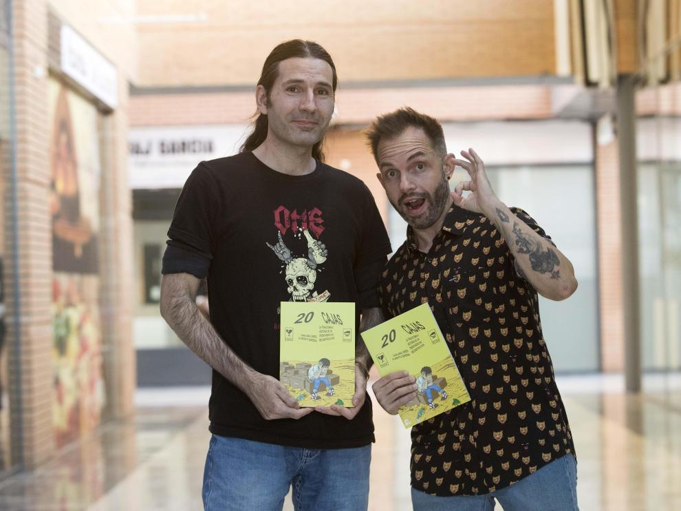 Alberto Serena e Iván Ara, en la presentación de su libro en Los Porches del Audiorama.