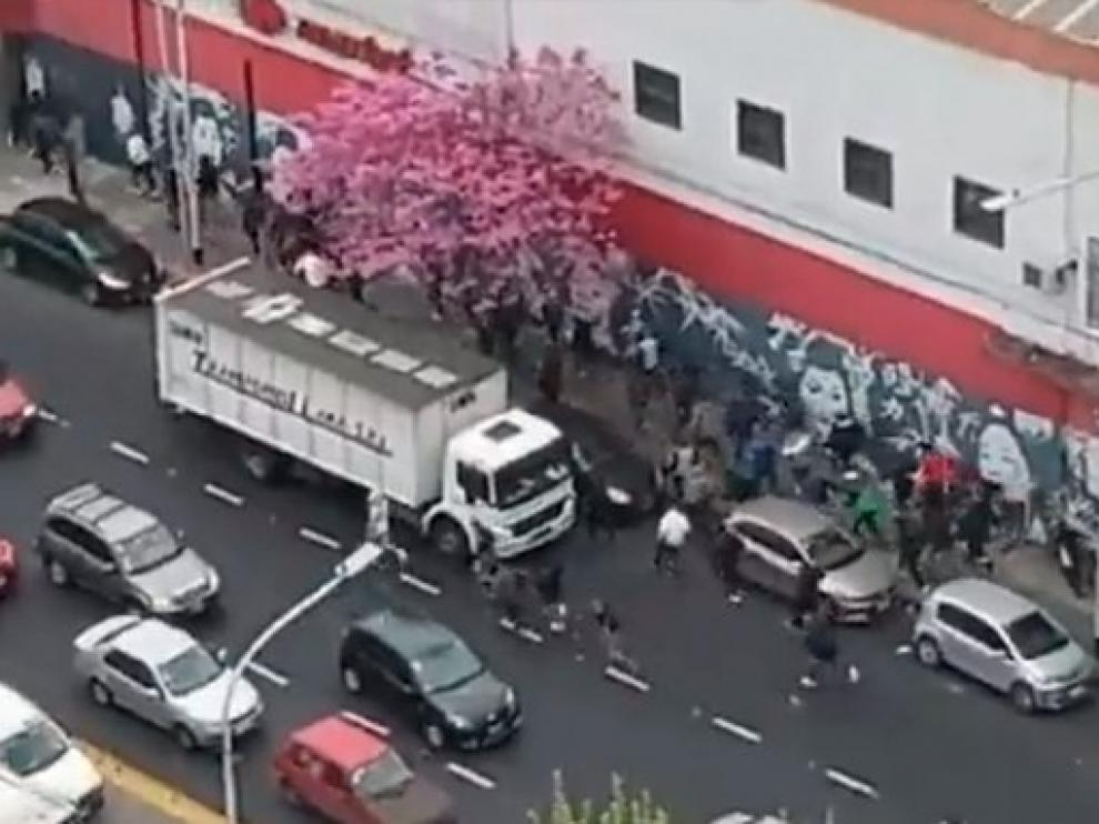 El enfrentamiento se produjo en las calles de Avellaneda