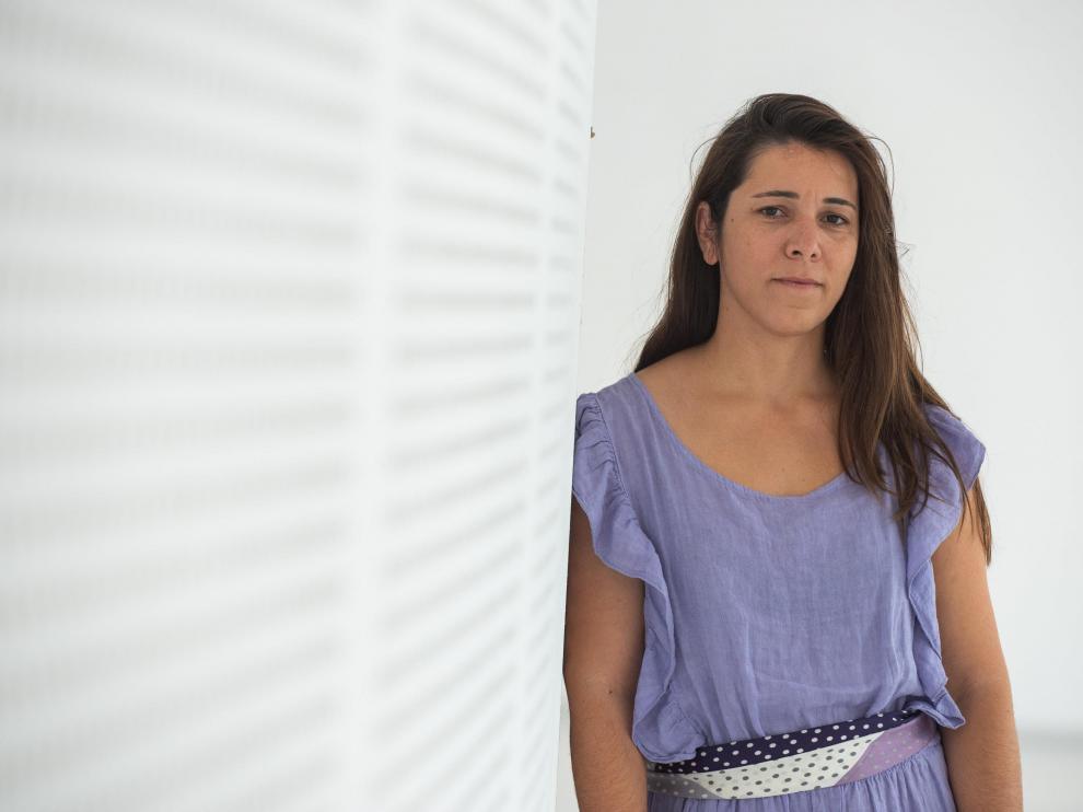 Joana Magalhães, la semana pasada en Etopia, tras el encuentro 'Identidades comunes'.