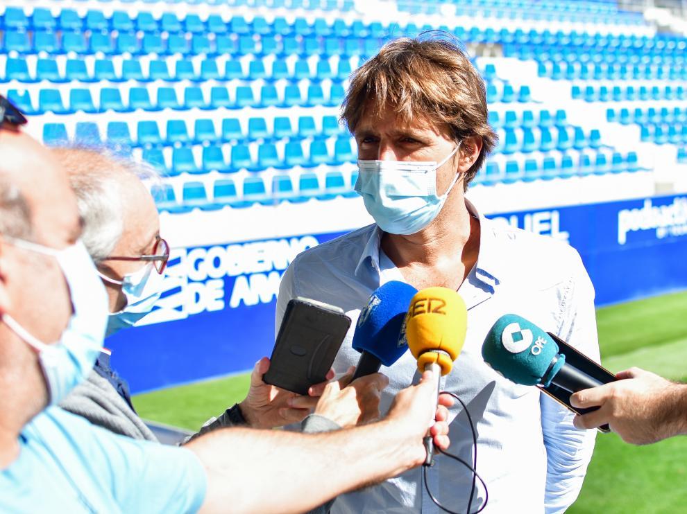 Josete Ortas ha atendido este miércoles a los medios en El Alcoraz.