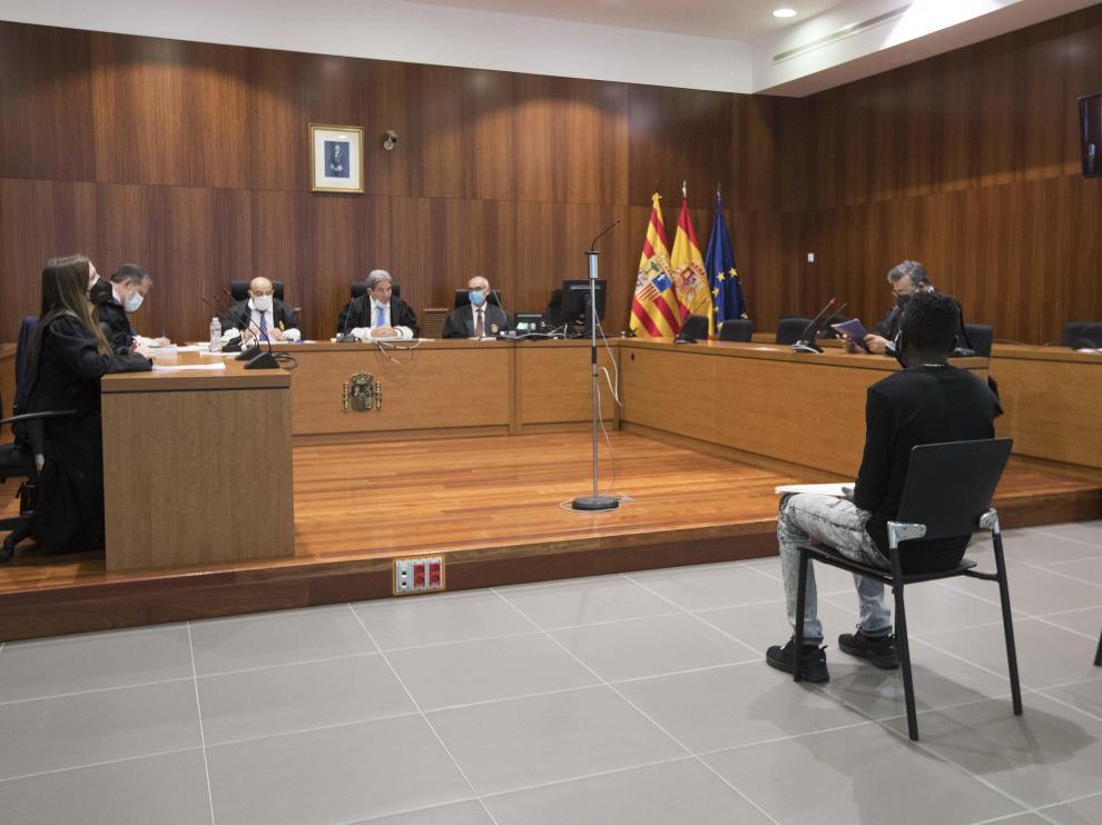 Nicolás A. K., durante el juicio celebrado en la Audiencia Provincial de Zaragoza.