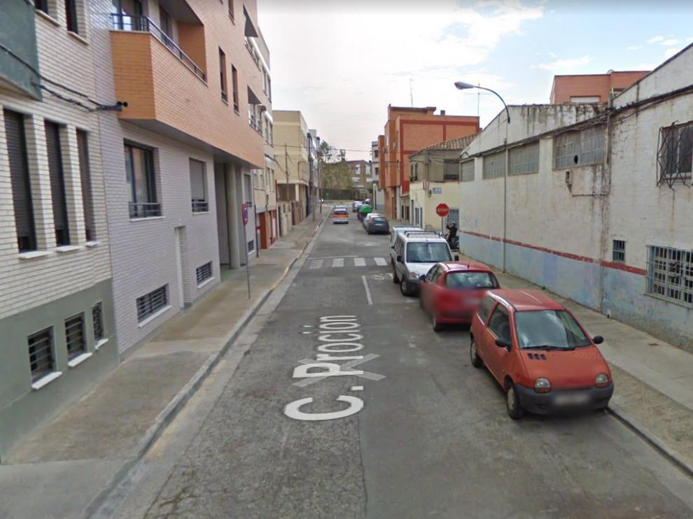 La detención se produjo ayer a las 18.06 en la calle Proción, en el barrio Oliver.