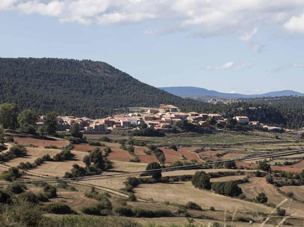 Vista de la localidad de Moscardón (Teruel).