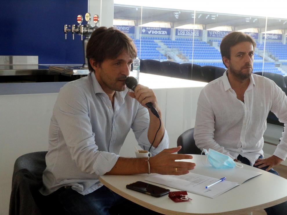 Josete Ortas y Diego Pesqué, durante el encuentro con medios y aficionados.