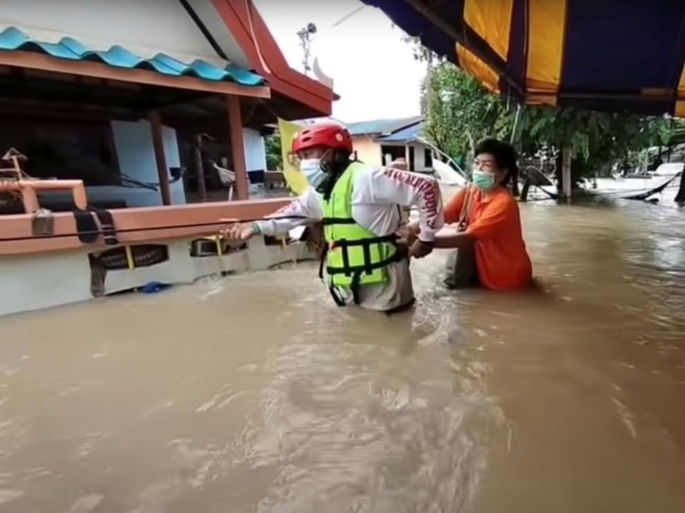 Severe flooding in Thailand's Chaiyaphum province