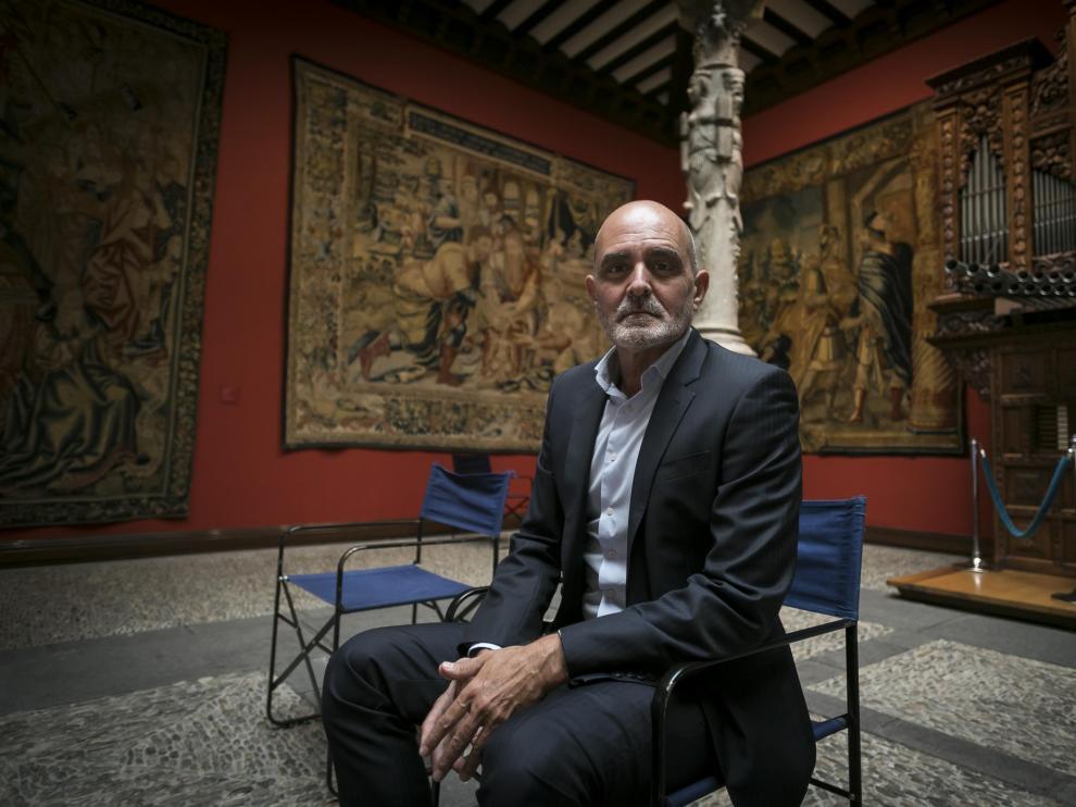 Alberto Aza, portavoz de la patronal bancaria CECA, en el Patio de la Infanta de Ibercaja.