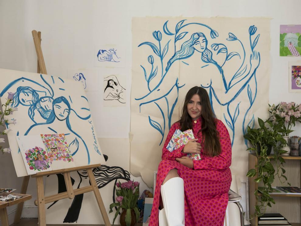 Blasina Rocher, en su estudio.