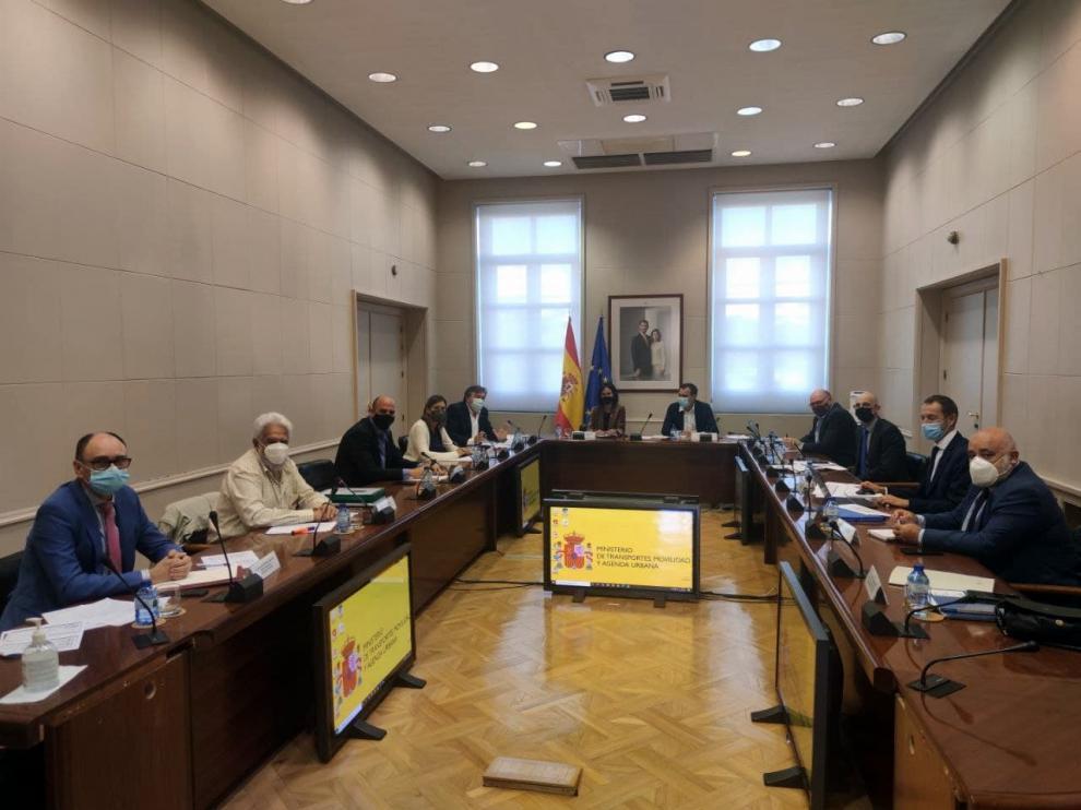Reunión entre Teruel Existe y el Ministerio de Transportes