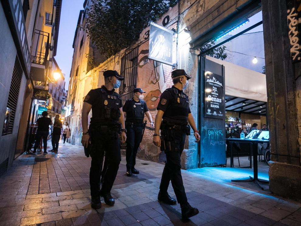 Dispositivo de la Policía Nacional por las 'no fiestas' del Pilar 2021