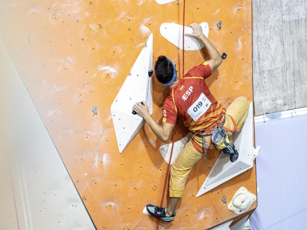 Raúl Simón ganó en septiembre el bronce en el Campeonato del Mundo de Paraescalada en la categoría B, deportistas con discapacidad visual grave.