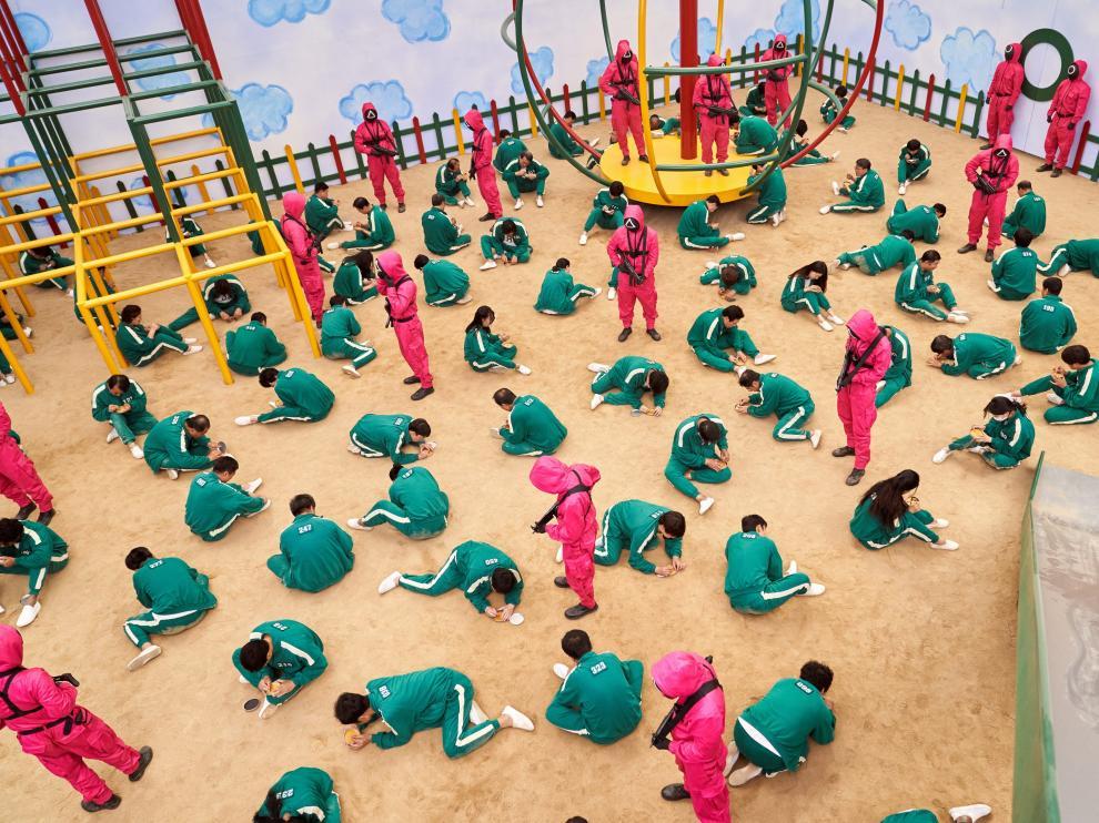 Escena de uno de los episodios de 'El juego del calamar'.