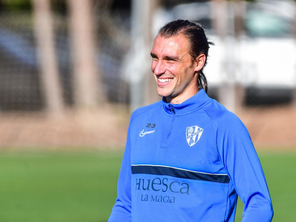 Ignasi Miquel, durante el entrenamiento de este jueves.