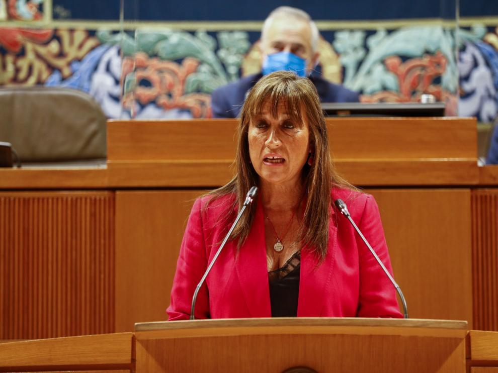 La consejera de Sanidad, Sira Repollés, este jueves en las Cortes de Aragón