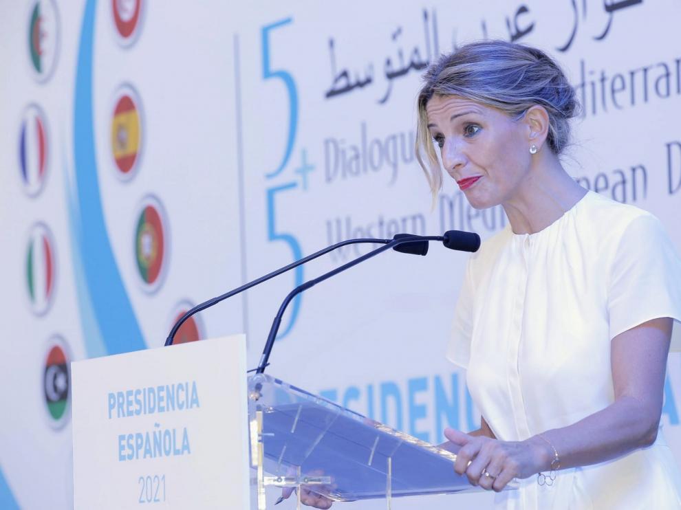 La vicepresidenta segunda del Gobierno, Yolanda Díaz