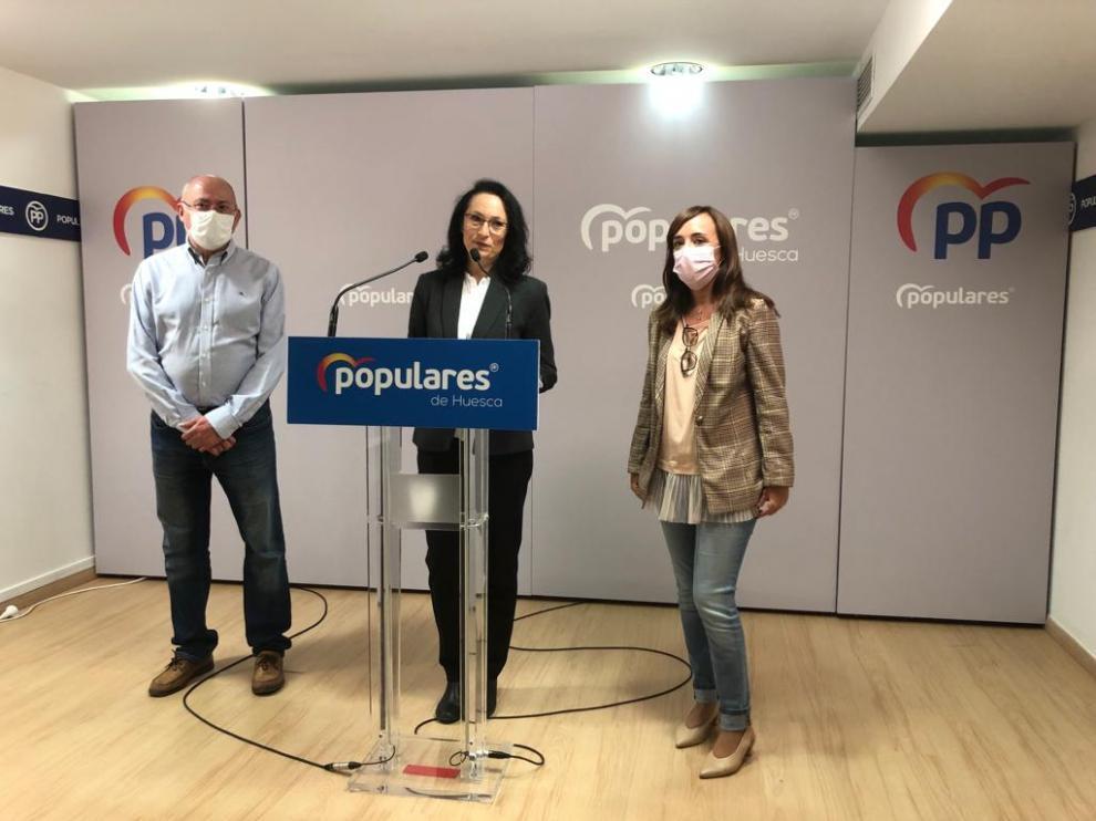 Leo Carranza, Antonia Alcalá y Gemma Allué durante la rueda de prensa de este jueves.