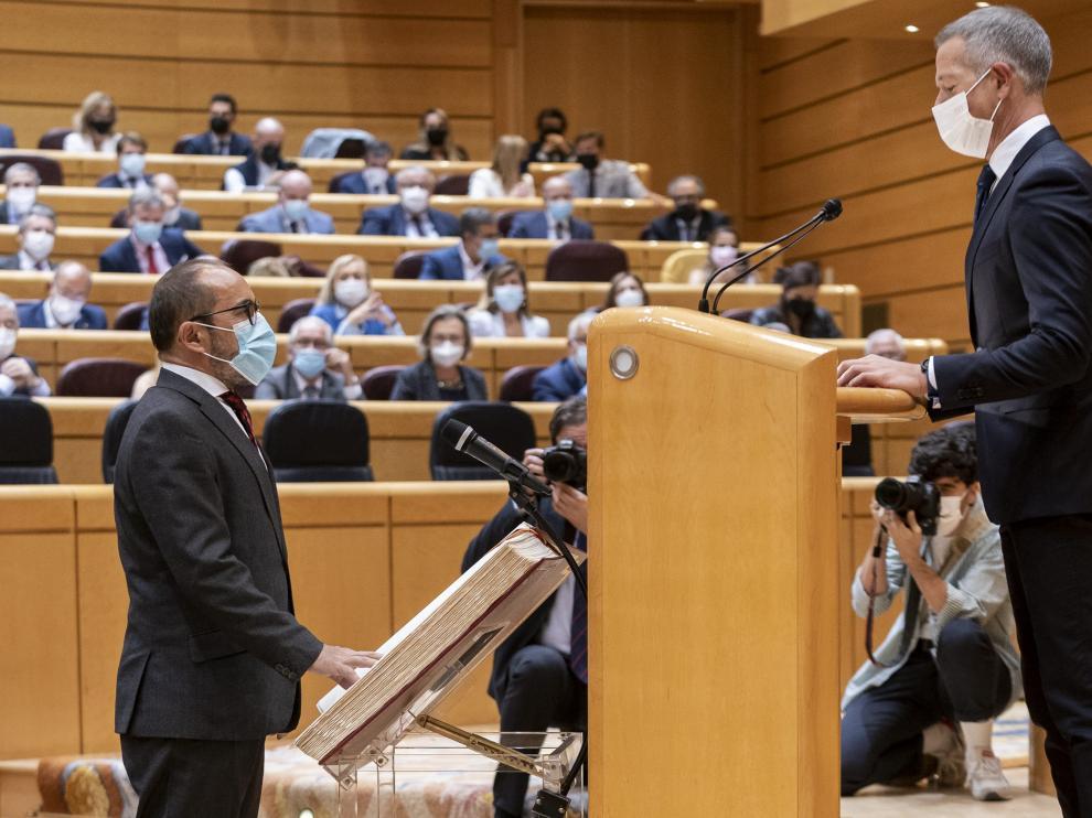 El presidente del Senado, Ander Gil, en una sesión de control el pasado 5 de octubre.